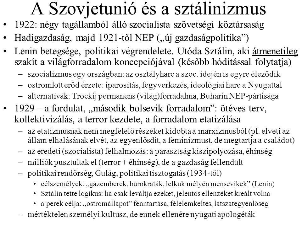 A Szovjetunió és a sztálinizmus