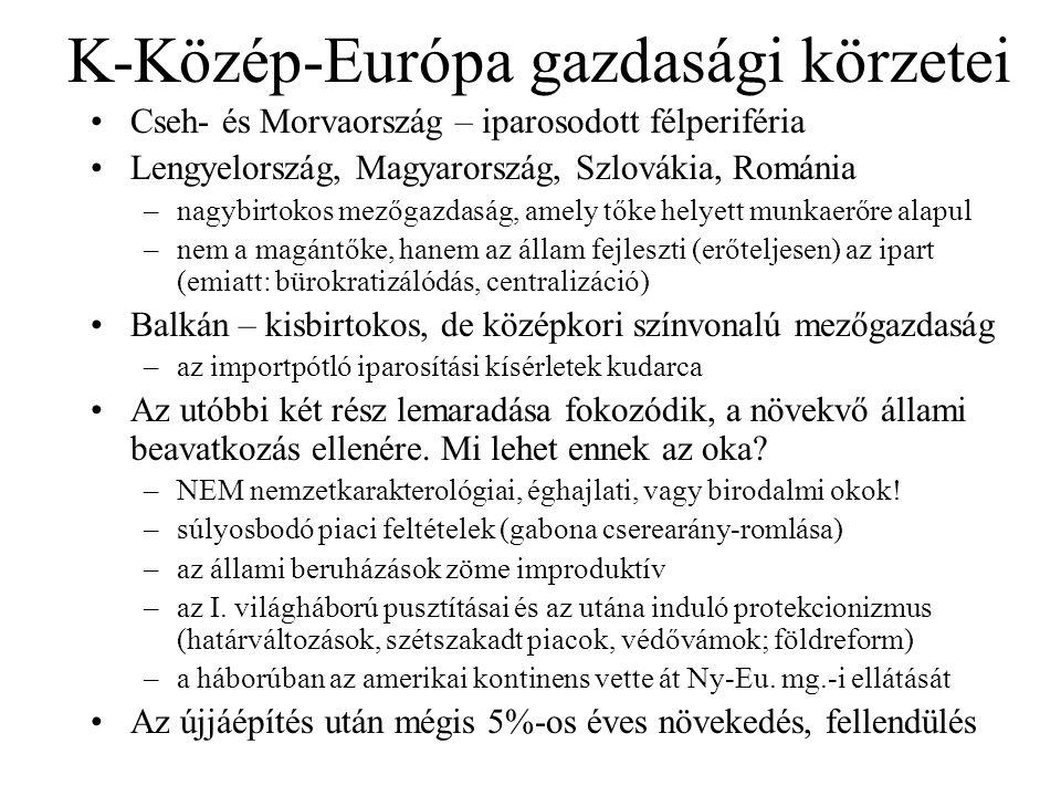K-Közép-Európa gazdasági körzetei