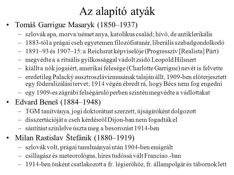 Az alapító atyák Tomáš Garrigue Masaryk (1850–1937)