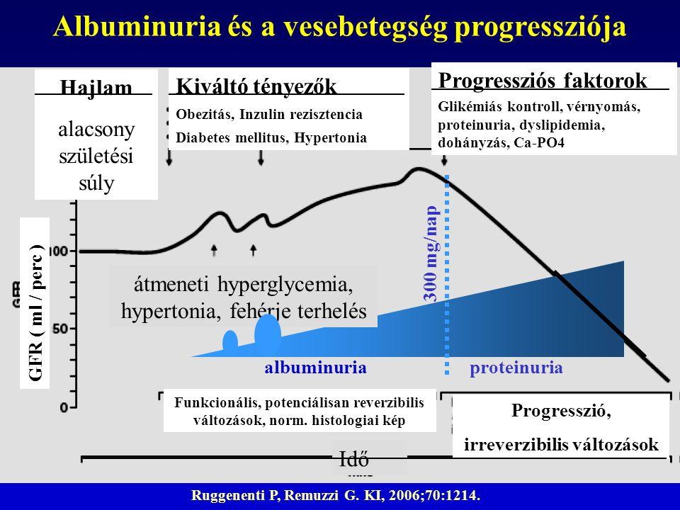 Albuminuria és a vesebetegség progressziója irreverzibilis változások
