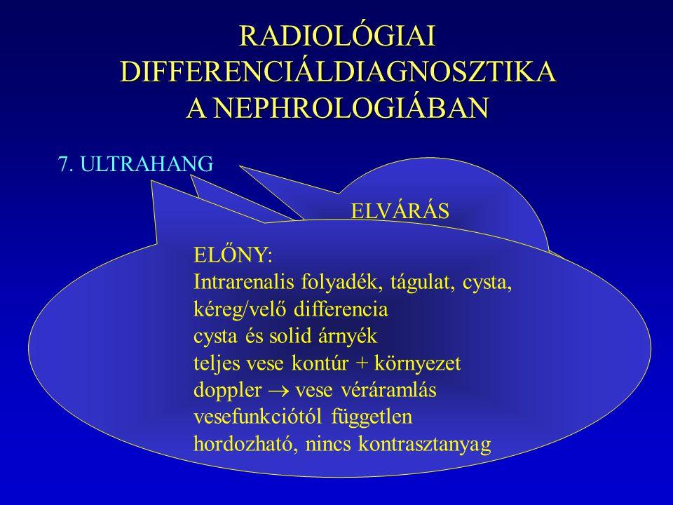 RADIOLÓGIAI DIFFERENCIÁLDIAGNOSZTIKA A NEPHROLOGIÁBAN
