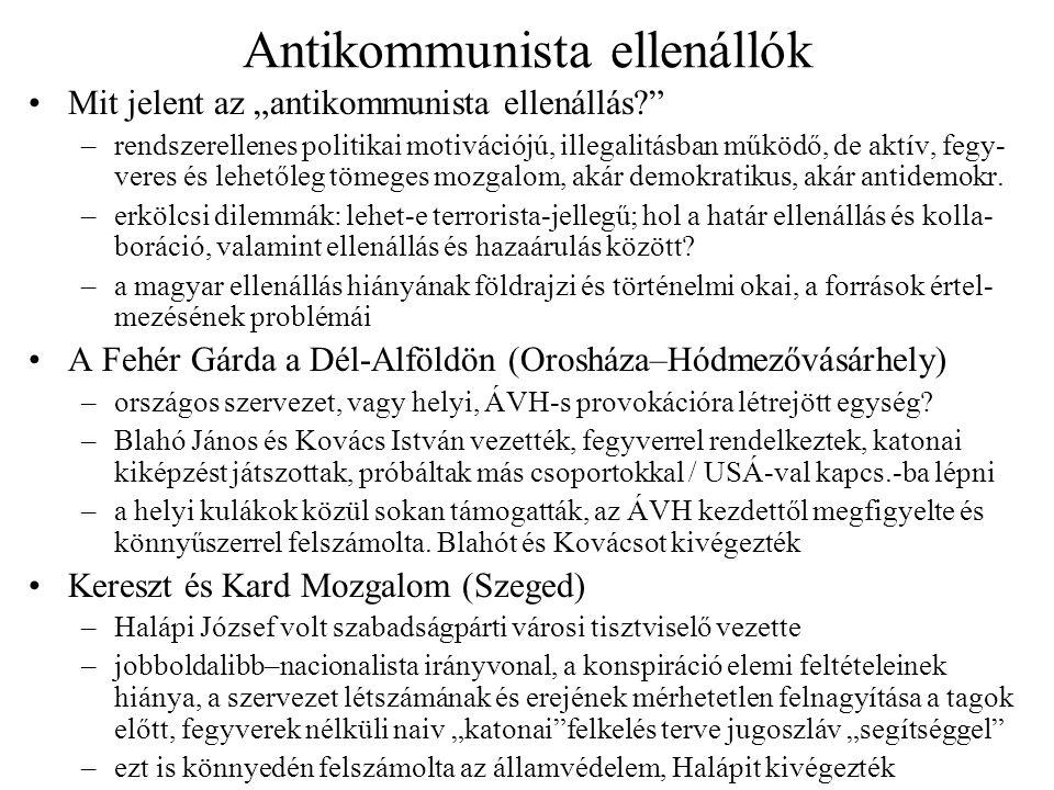 Antikommunista ellenállók