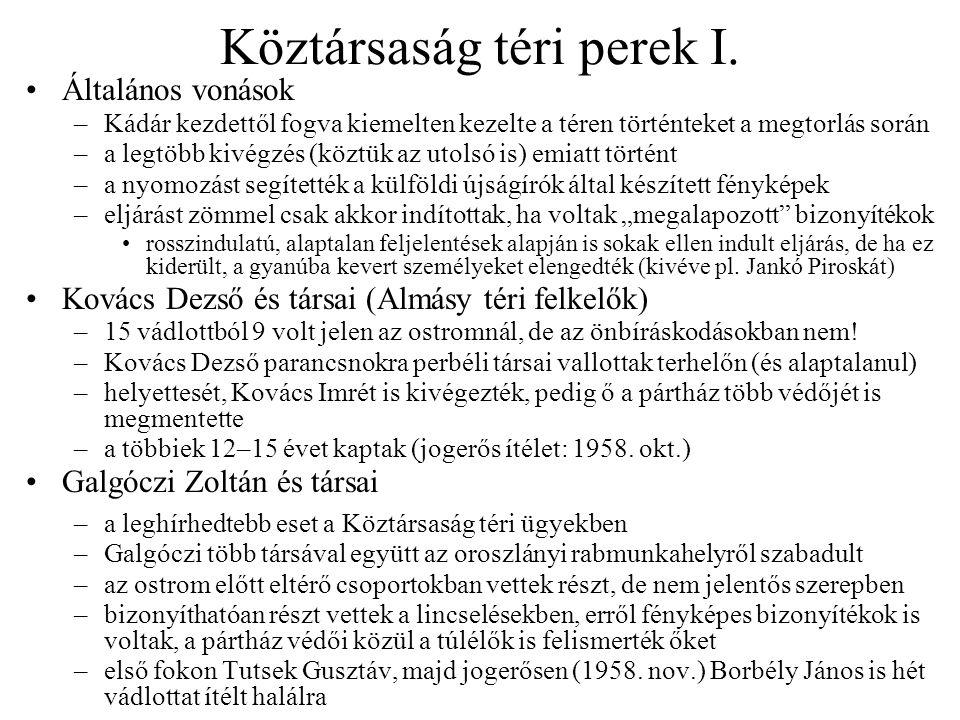 Köztársaság téri perek I.