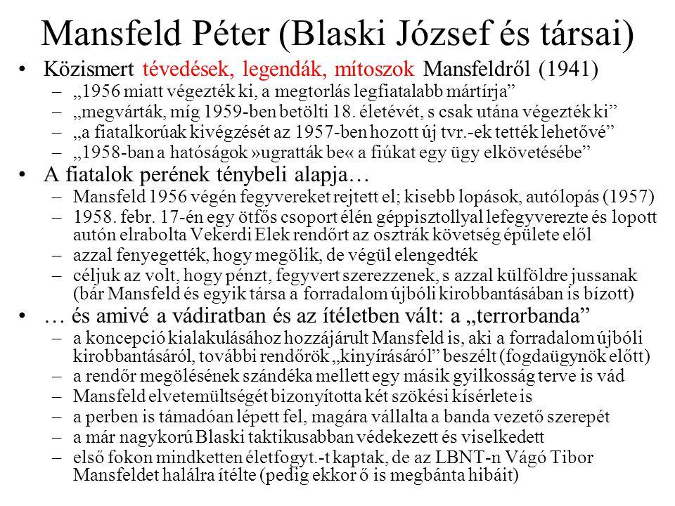 Mansfeld Péter (Blaski József és társai)