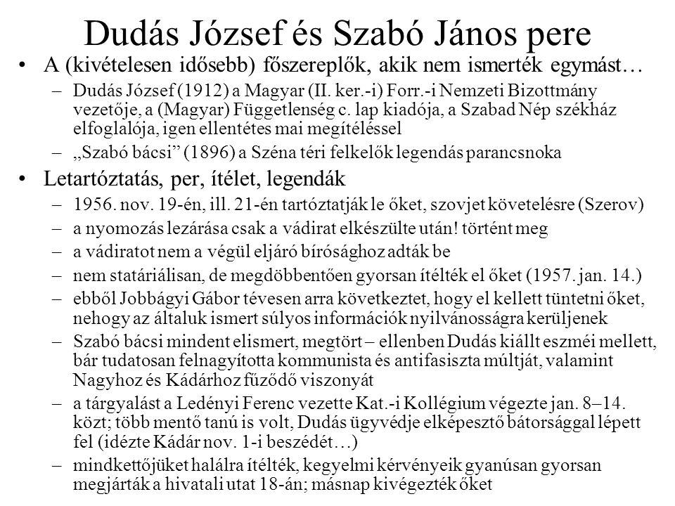 Dudás József és Szabó János pere