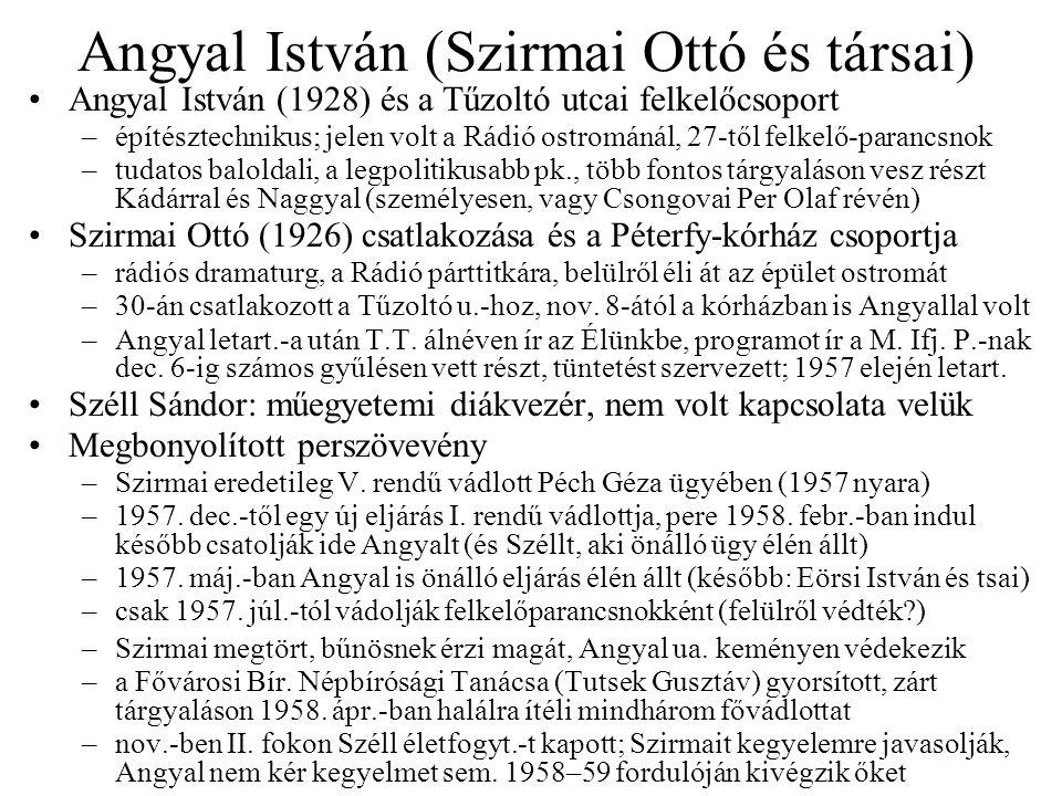 Angyal István (Szirmai Ottó és társai)