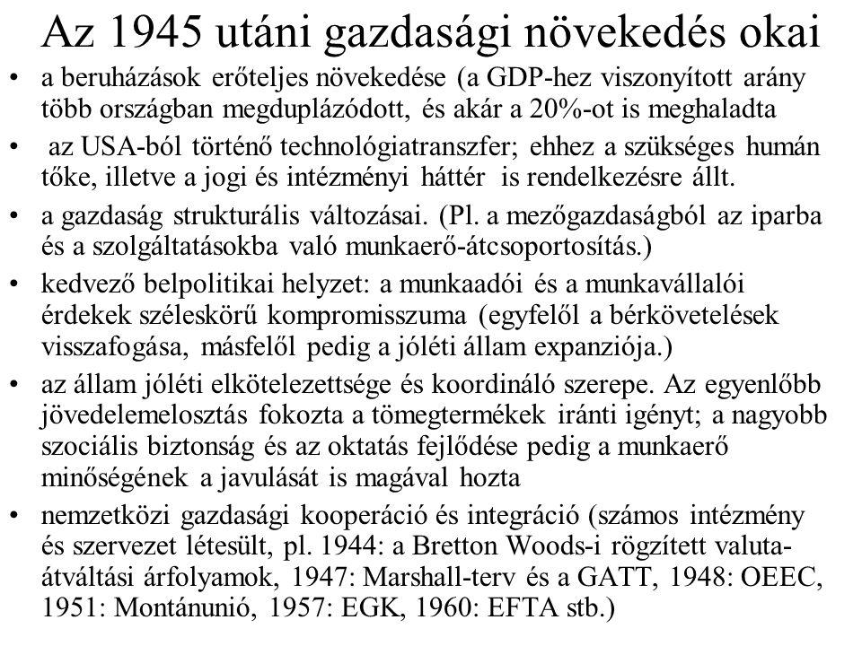 Az 1945 utáni gazdasági növekedés okai