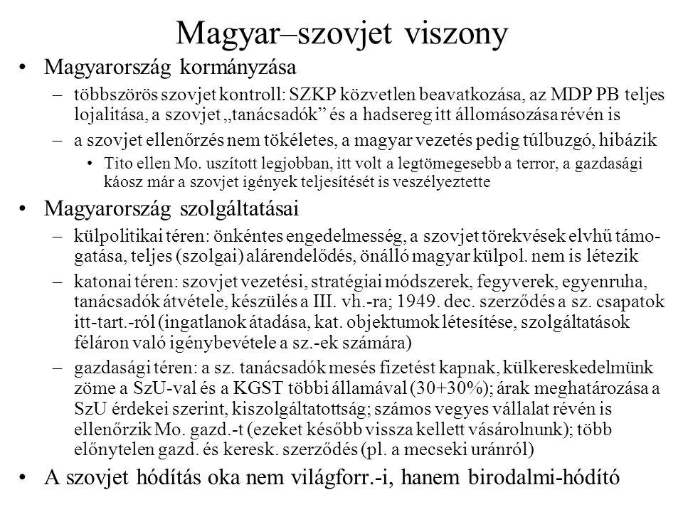 Magyar–szovjet viszony