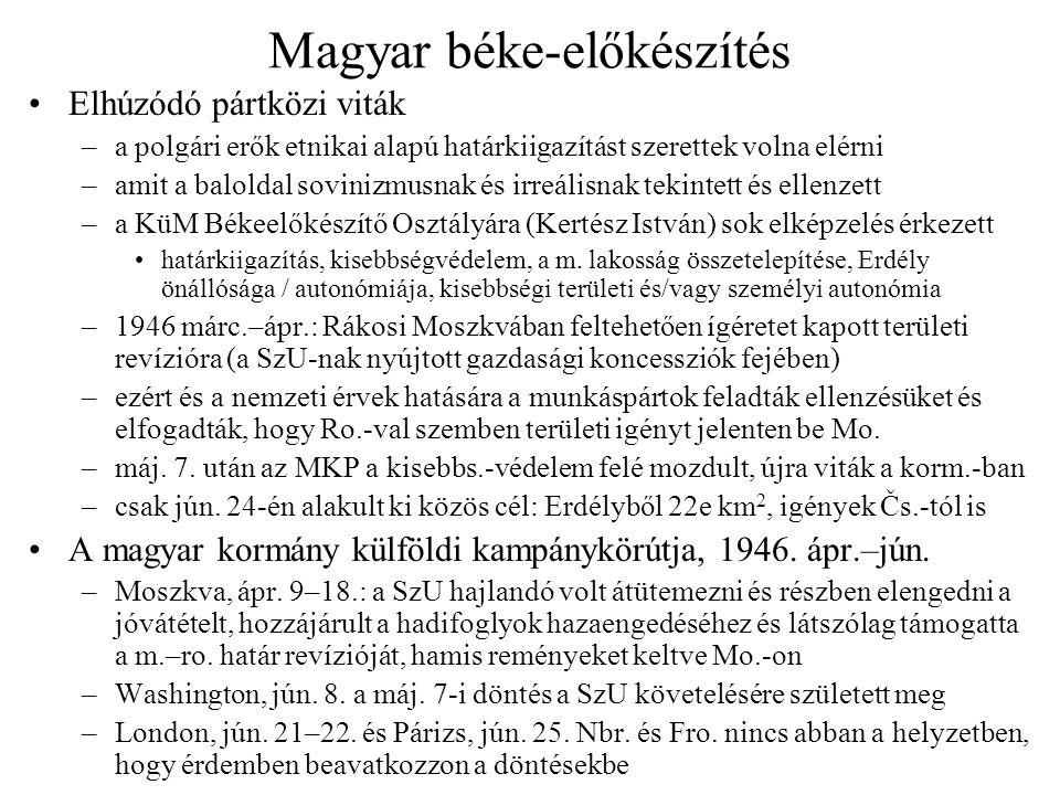 Magyar béke-előkészítés