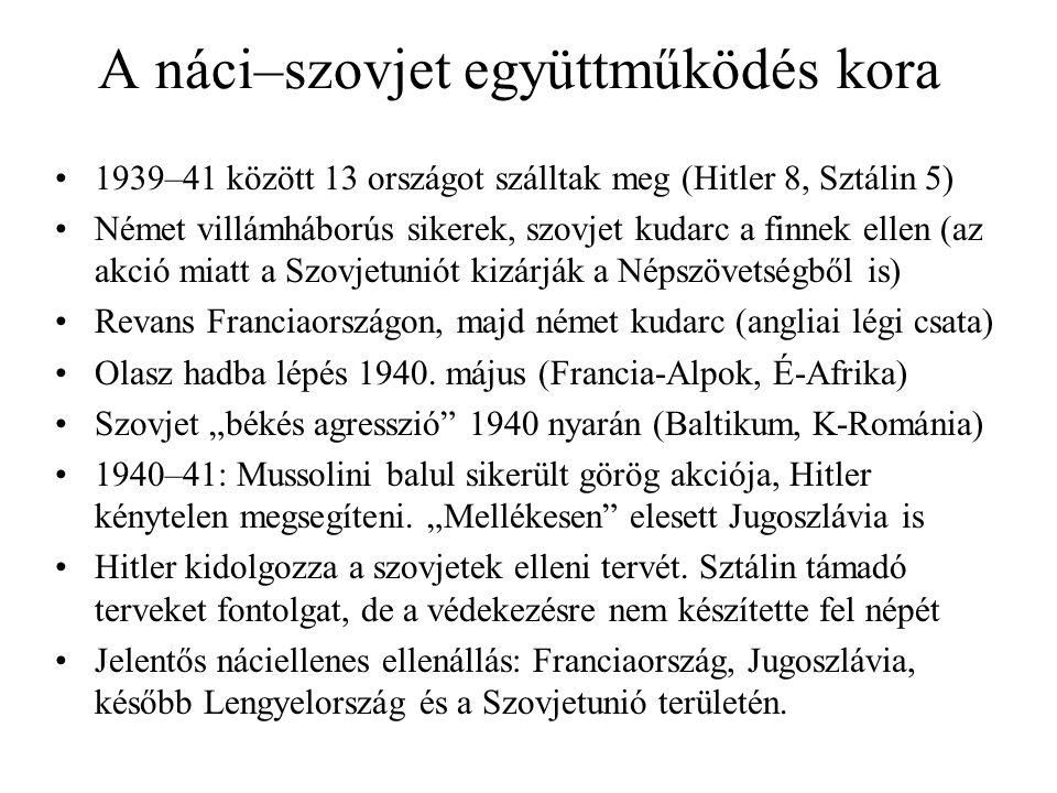 A náci–szovjet együttműködés kora