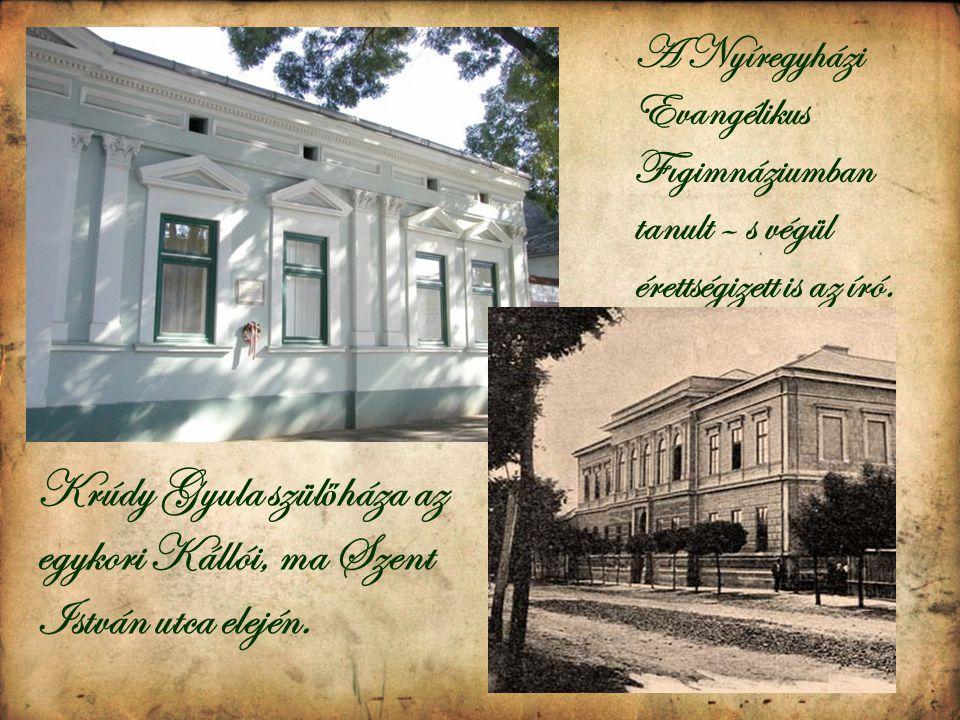 Krúdy Gyula szülőháza az egykori Kállói, ma Szent István utca elején.