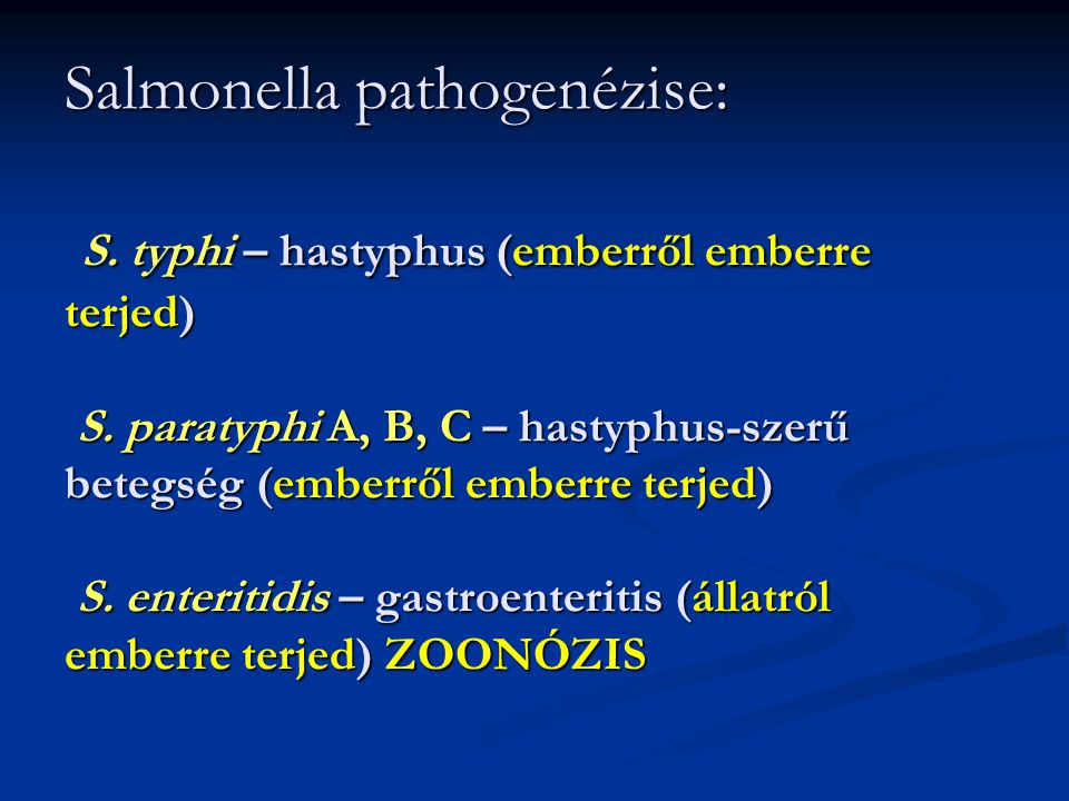 Salmonella pathogenézise: S