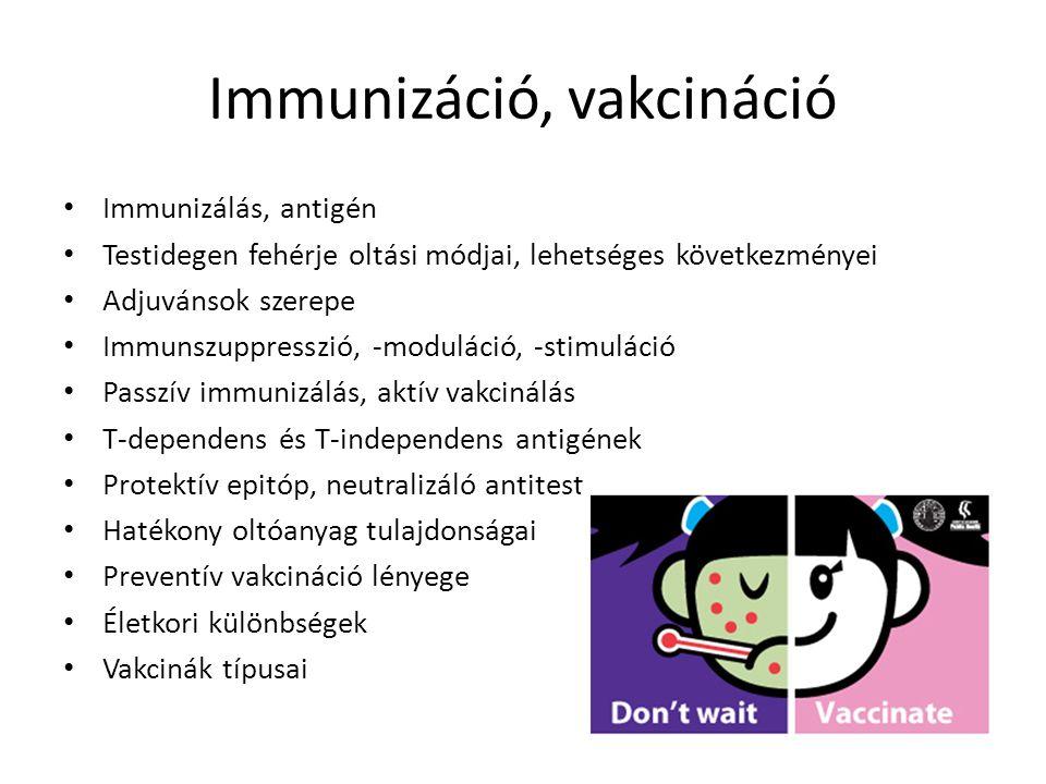 Immunizáció, vakcináció
