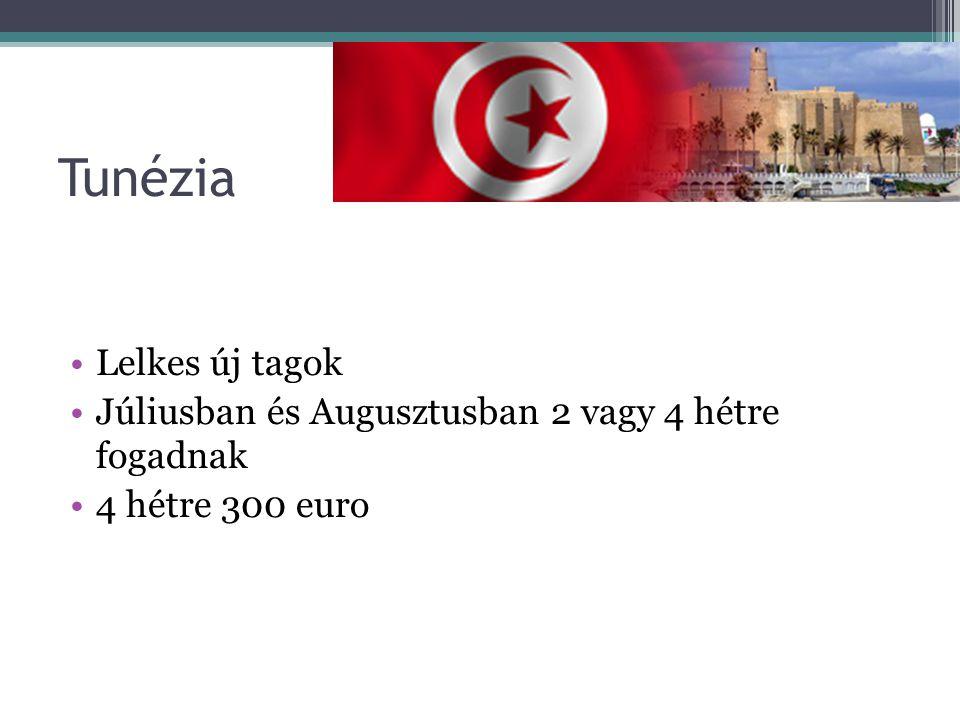 Tunézia Lelkes új tagok
