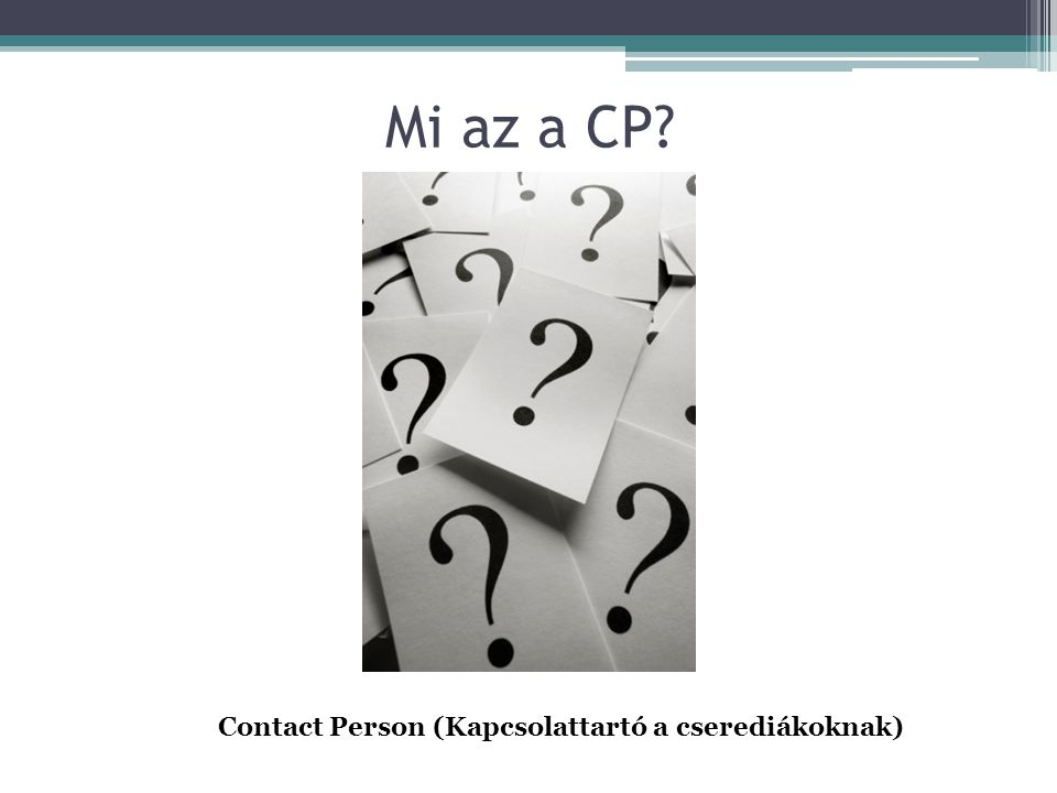 Contact Person (Kapcsolattartó a cserediákoknak)