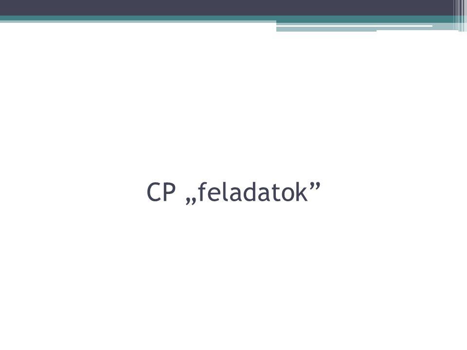 "CP ""feladatok"