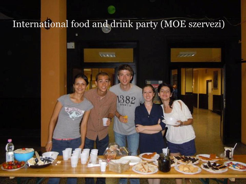 International food and drink party (MOE szervezi)