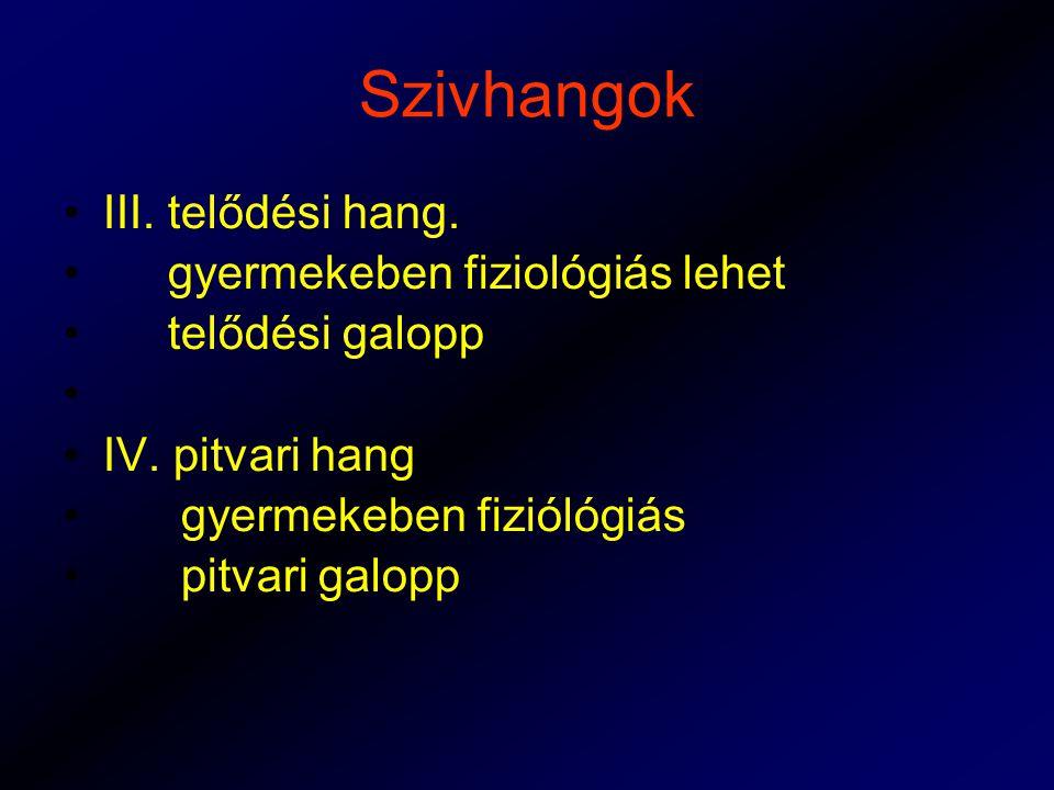 Szivhangok III. telődési hang. gyermekeben fiziológiás lehet