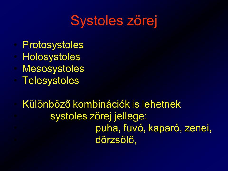 Systoles zörej Protosystoles Holosystoles Mesosystoles Telesystoles