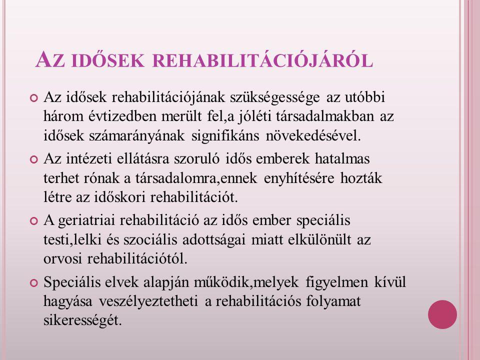 Az idősek rehabilitációjáról