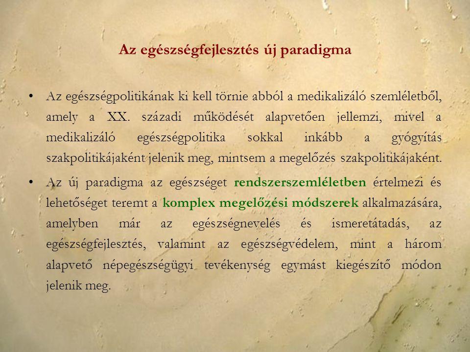 Az egészségfejlesztés új paradigma