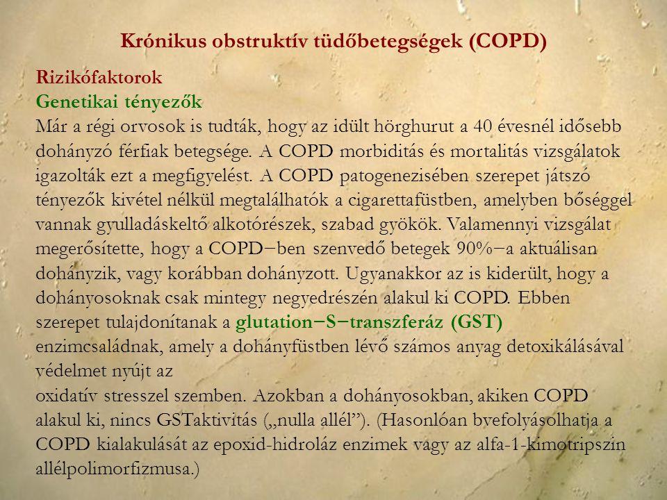 Krónikus obstruktív tüdőbetegségek (COPD)
