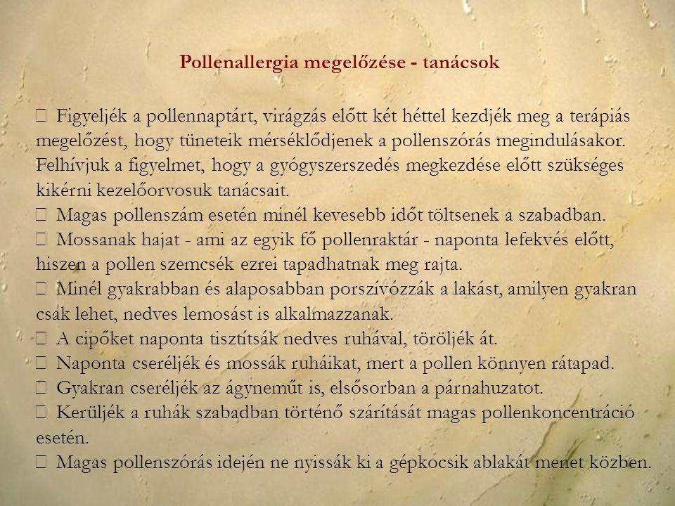 Pollenallergia megelőzése - tanácsok