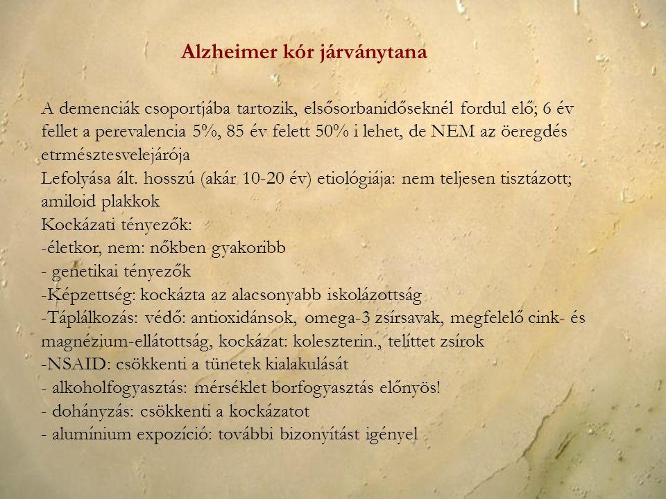 Alzheimer kór járványtana