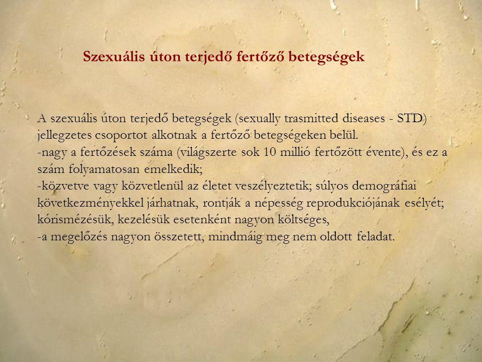 Szexuális úton terjedő fertőző betegségek