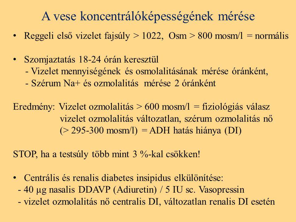 A vese koncentrálóképességének mérése