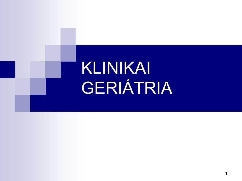 KLINIKAI GERIÁTRIA