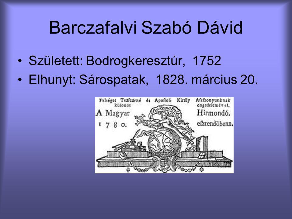 Barczafalvi Szabó Dávid
