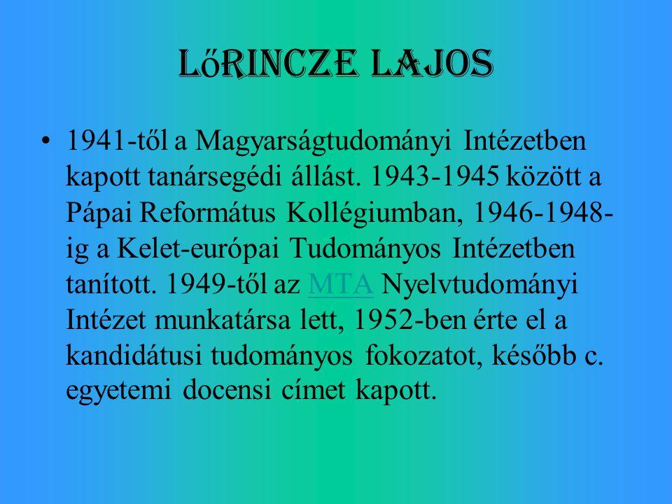 Lőrincze Lajos