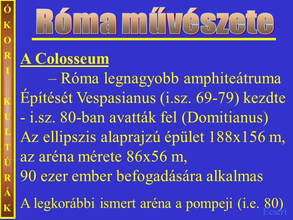 Róma művészete ÓKORI KULTÚRÁK.