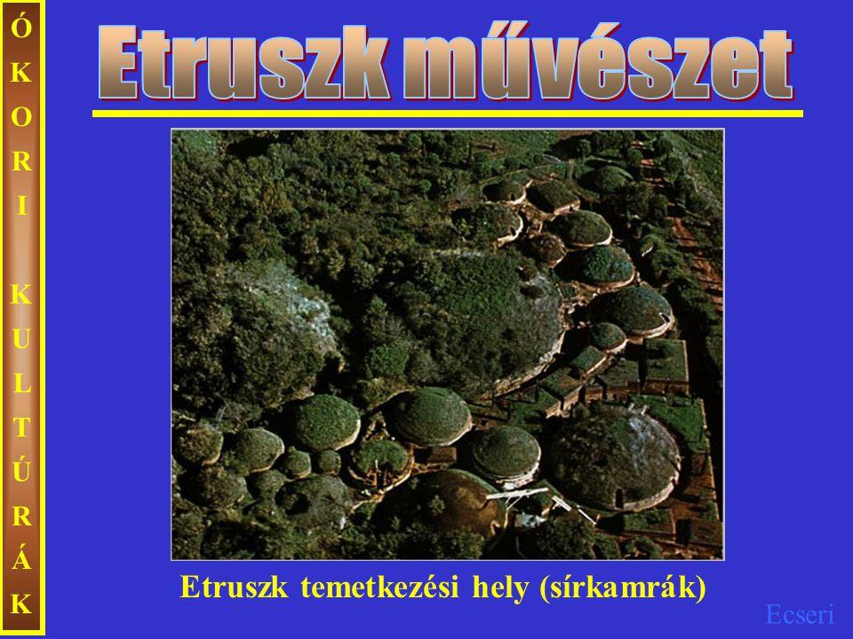 Etruszk művészet ÓKORI KULTÚRÁK Etruszk temetkezési hely (sírkamrák)
