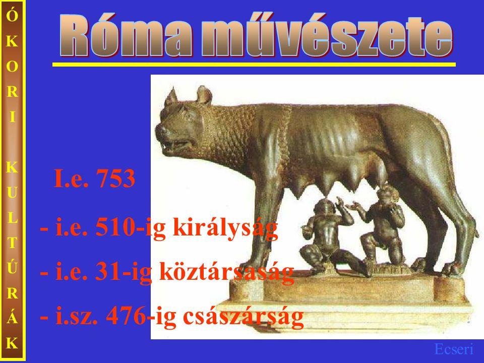Róma művészete I.e. 753 - i.e. 510-ig királyság