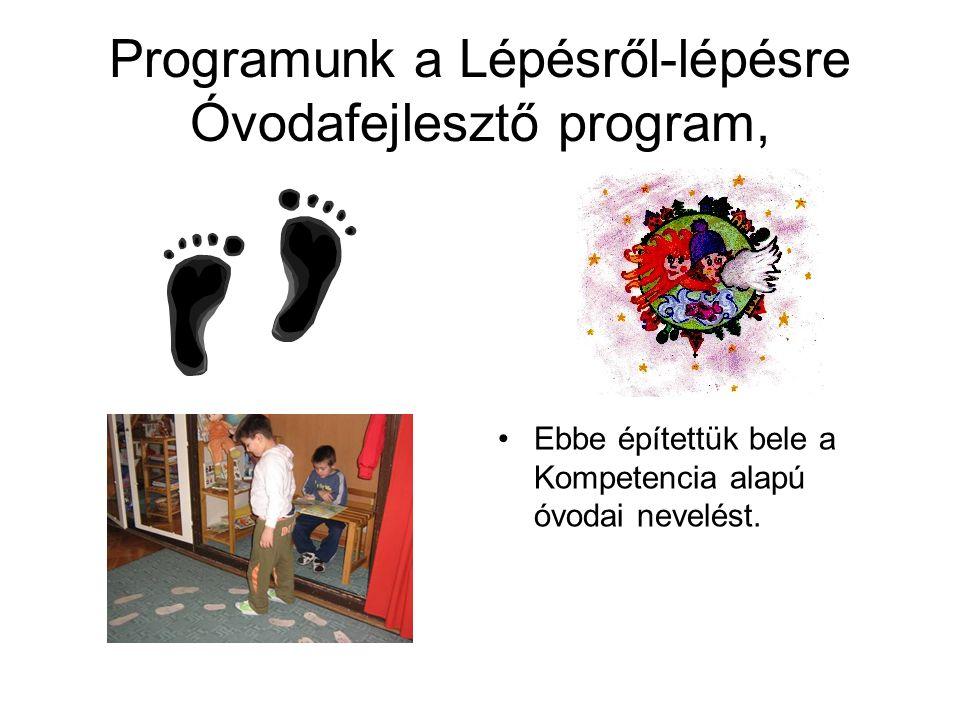 Programunk a Lépésről-lépésre Óvodafejlesztő program,