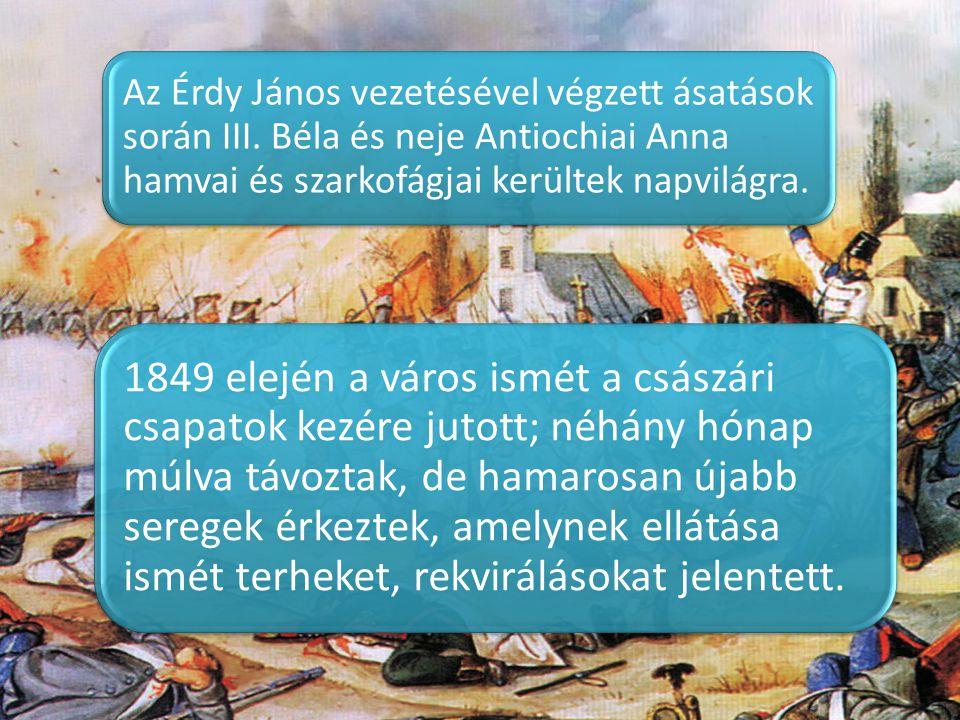 Az Érdy János vezetésével végzett ásatások során III