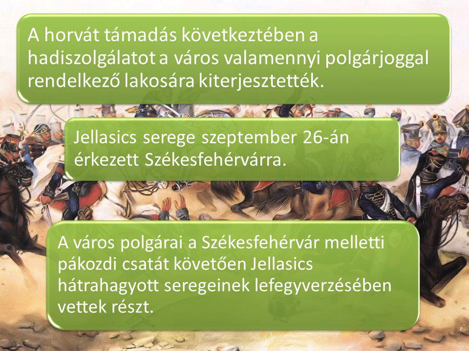 A horvát támadás következtében a hadiszolgálatot a város valamennyi polgárjoggal rendelkező lakosára kiterjesztették.