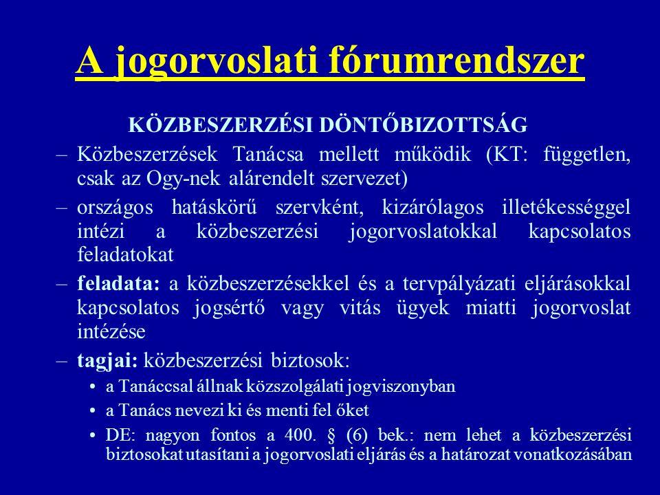 A jogorvoslati fórumrendszer
