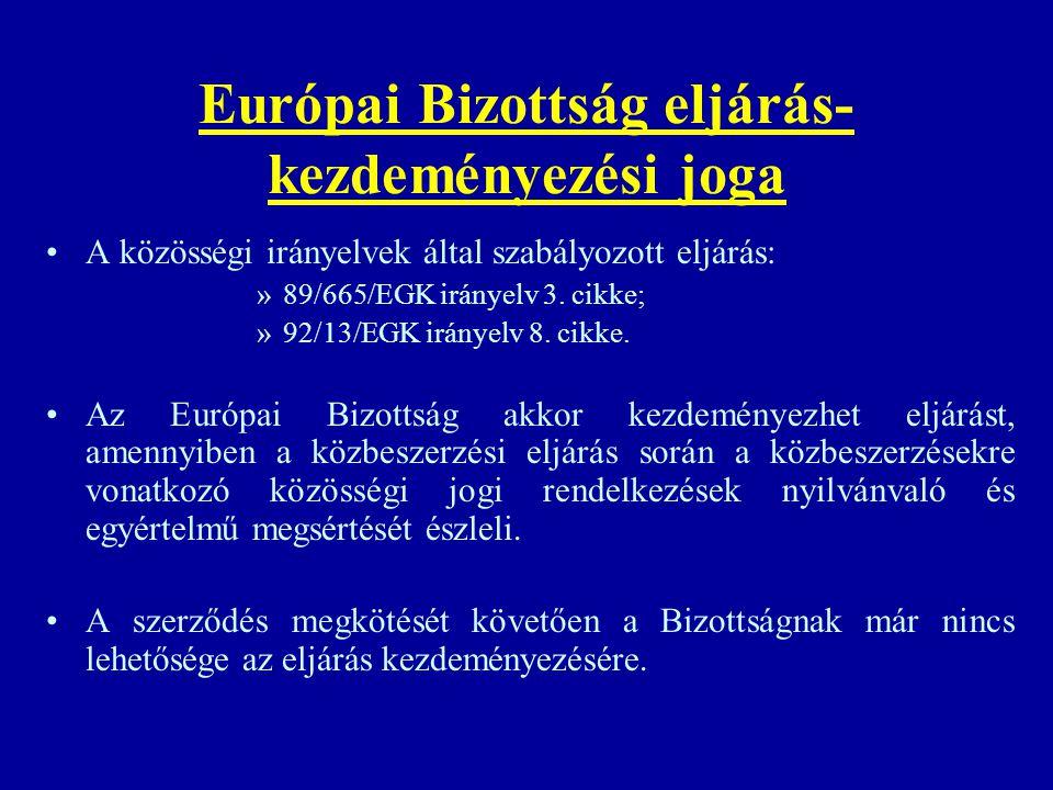 Európai Bizottság eljárás-kezdeményezési joga