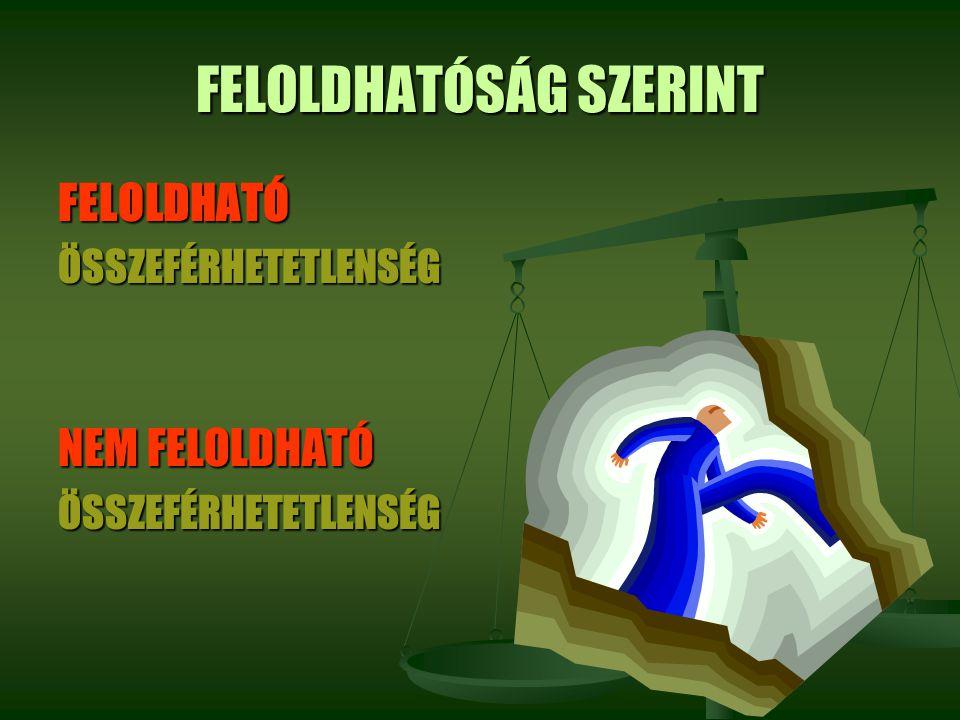 FELOLDHATÓSÁG SZERINT
