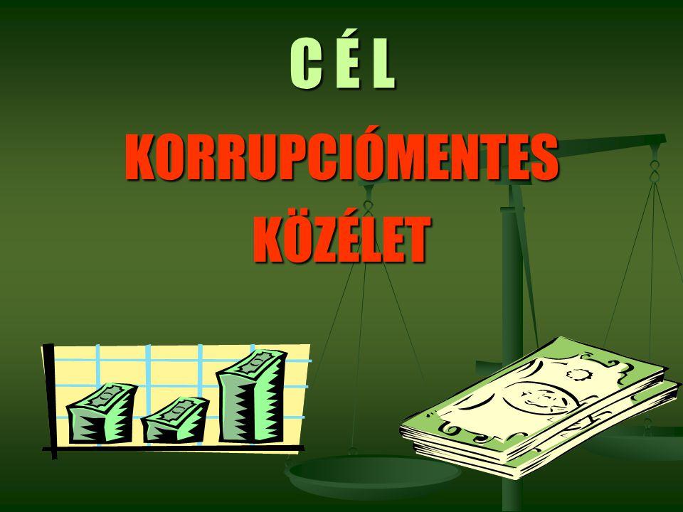 C É L KORRUPCIÓMENTES KÖZÉLET