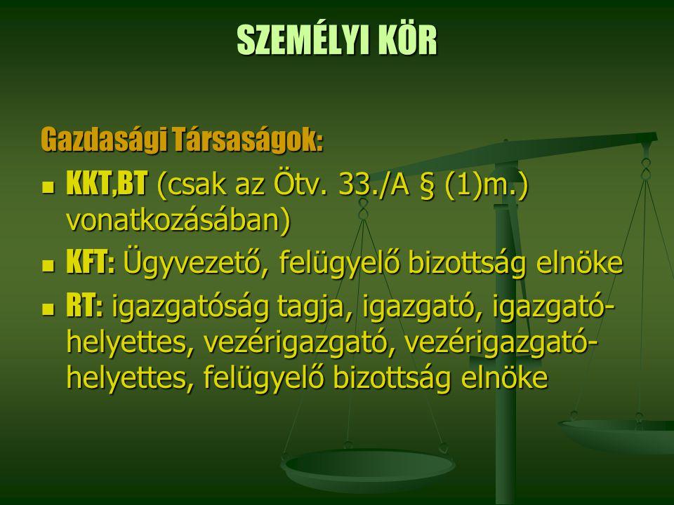 SZEMÉLYI KÖR Gazdasági Társaságok: