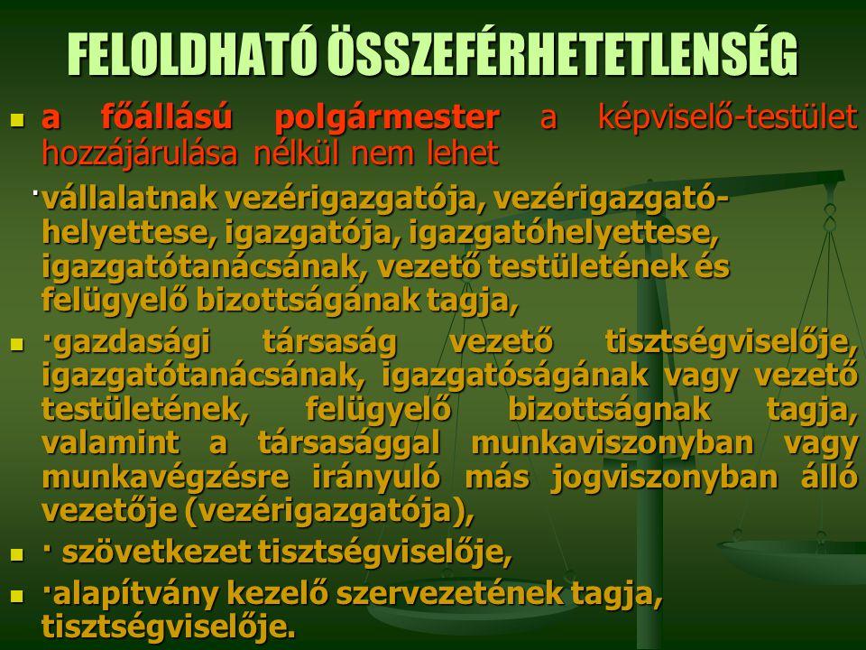 FELOLDHATÓ ÖSSZEFÉRHETETLENSÉG