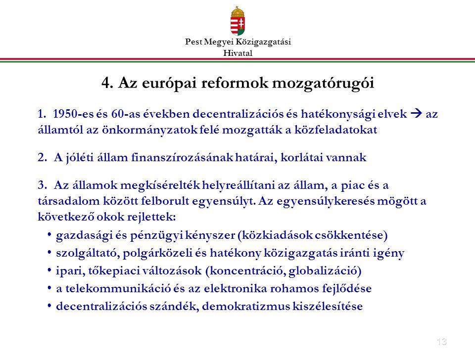 4. Az európai reformok mozgatórugói