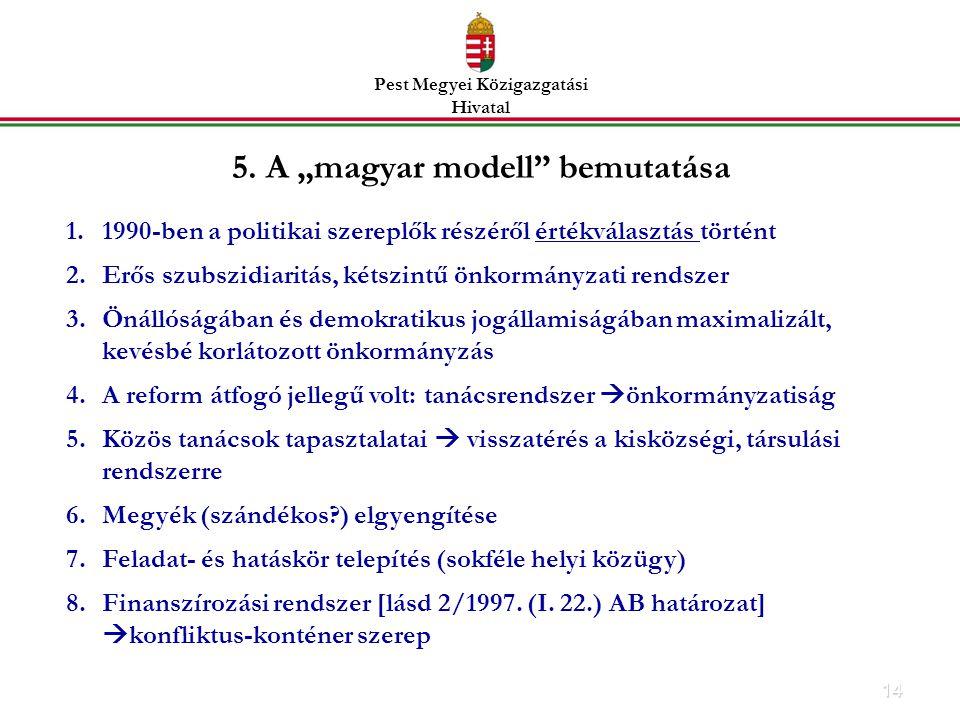 """5. A """"magyar modell bemutatása"""