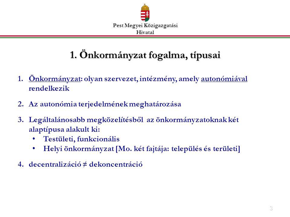 1. Önkormányzat fogalma, típusai