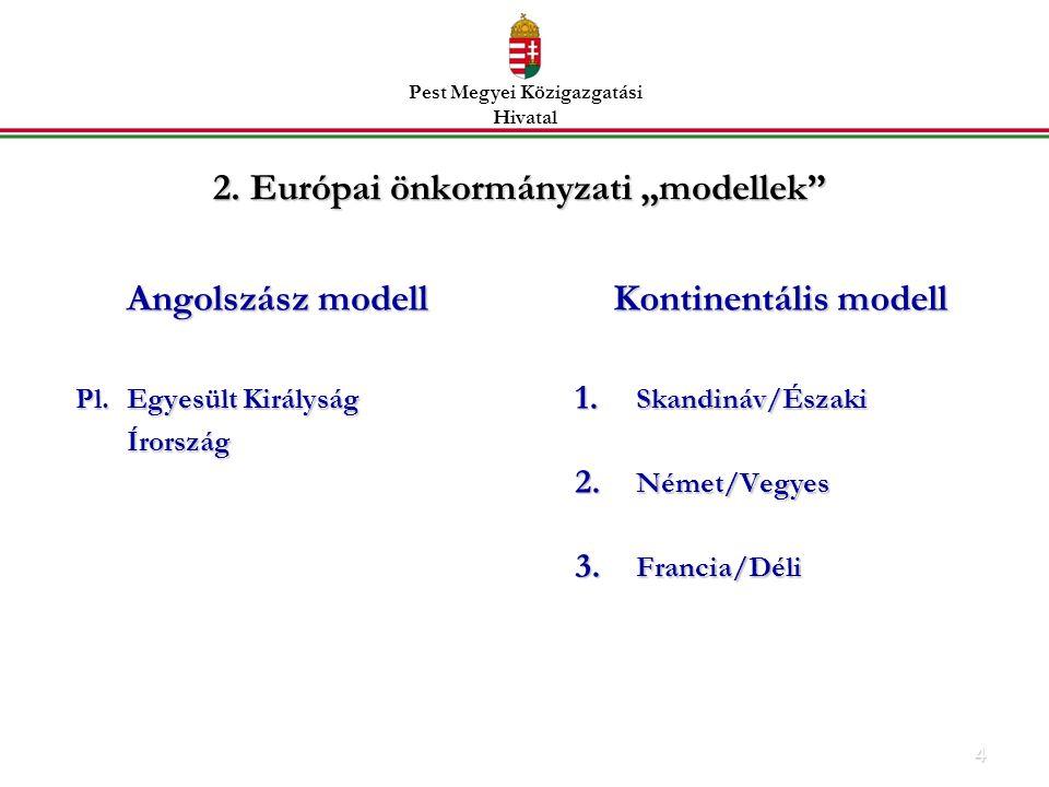 """2. Európai önkormányzati """"modellek"""
