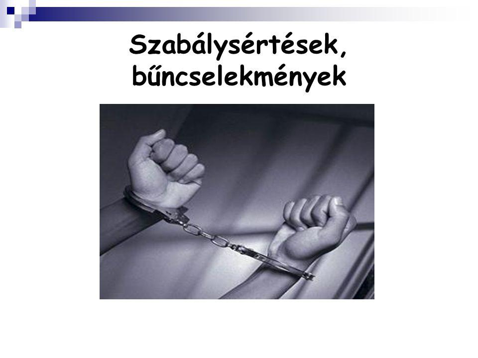 Szabálysértések, bűncselekmények